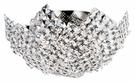 Trans Globe MDN-1134 Small Semi Flush Mount 16 Inch Diameter Crystal Overhead Lighting