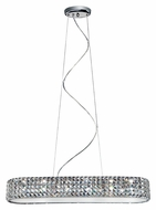 Trans Globe MDN-1169 LED 33 Inch Wide Island Lighting Fixture - Polished Chrome