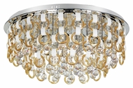 Trans Globe MDN-1172 CHMP Large Polished Chrome Flush Mount Lighting - 31 Inch Diameter