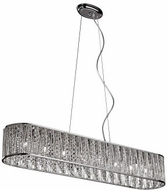 Trans Globe MDN-1216 Loretta Modern Polished Chrome Halogen 41  Kitchen Island Light Fixture