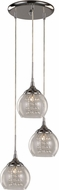 Trans Globe MDN-1218 Modern Polished Chrome Halogen Multi Ceiling Light Pendant