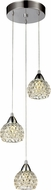 Trans Globe MDN-1269 Milano Contemporary Polished Chrome LED Multi Drop Ceiling Lighting