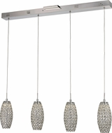 Trans Globe MDN-1400 Roswell Polished Chrome LED Multi Hanging Light