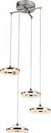 Trans Globe MDN-1402 Optic II Modern Polished Chrome LED Multi Hanging Pendant Lighting