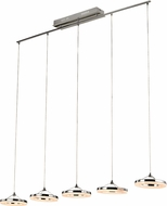 Trans Globe MDN-1403 Optic II Contemporary Polished Chrome LED Multi Hanging Pendant Light