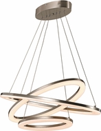 Trans Globe MDN-1407 Optic II Contemporary Brushed Nickel LED Drop Lighting