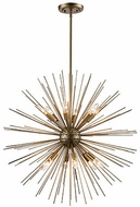 Trans Globe MDN-1453-ASL Collina Modern Antique Silver Leaf 29  Pendant Lamp