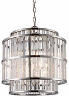 Trans Globe MDN-1457 Dapper Contemporary Polished Chrome 16  Pendant Light Fixture