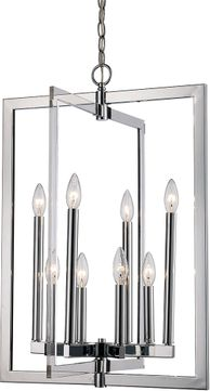 Trans Globe MDN-1480 Darby Contemporary Polished Chrome 19 Foyer Lighting Fixture