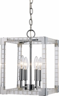 Trans Globe MDN-1491 Sinclair Modern Polished Chrome 10.15  Entryway Light Fixture
