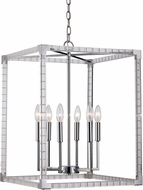 Trans Globe MDN-1493 Sinclair Modern Polished Chrome 18  Foyer Light Fixture