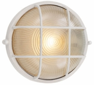 Trans Globe PL-41515-WH Aria Contemporary White Fluorescent Outdoor Wall Light Sconce