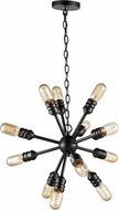 Trans Globe PND-1082-WB Link Modern Weathered Bronze Mini Hanging Chandelier