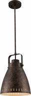 Trans Globe PND-1092 Glenrose Contemporary Antique Rust Mini Pendant Light