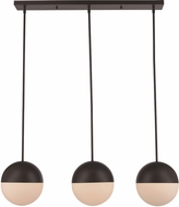 Trans Globe PND-2075-ROB Expedition Contemporary Rubbed Oil Bronze Multi Hanging Light