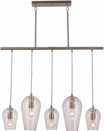 Trans Globe PND-2079-BN Contemporary Brushed Nickel Multi Drop Ceiling Lighting