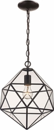 Trans Globe PND-2114 Diamond Contemporary Bronze Hanging Pendant Lighting