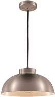 Trans Globe PND-2115-BN Jax Contemporary Brushed Nickel 12  Hanging Pendant Light