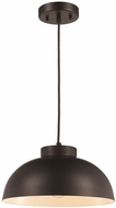Trans Globe PND-2115-MB Jax Contemporary Matte Black 12  Pendant Hanging Light