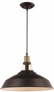 Trans Globe PND-2118-MB Rex Modern Matte Black 15.5  Drop Ceiling Light Fixture