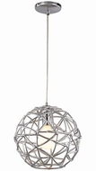 Trans Globe PND-966 Space Contemporary Polished Chrome 12  Drop Lighting Fixture