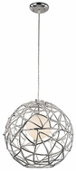 Trans Globe PND-967 Space Contemporary Polished Chrome 16  Pendant Lighting