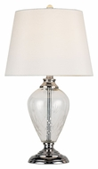 Trans Globe RTL-8150 PC 22 Inch Tall Clear Glass Table Top Lamp - Transitional