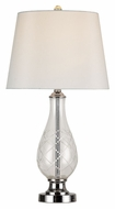 Trans Globe RTL-8151 PC Transitional 24 Inch Tall Polished Chrome Table Lighting