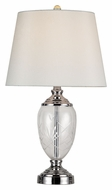 Trans Globe RTL-8152 PC Polished Chrome Transitional 22 Inch Tall Table Lamp