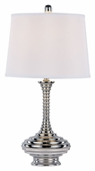 Trans Globe RTL-8790 27 Inch Tall Polished Chrome Modern Lamp
