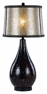Trans Globe RTL-8792 35 Inch Tall Black Marble Finish Bedroom Table Lamp