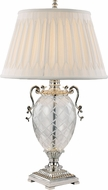 Trans Globe RTL-8802 Etched Silver Table Lamp Lighting