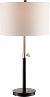 Trans Globe RTL-8980 Junction Black + Brushed Nickel Table Lamp Lighting