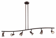 Trans Globe W-466-6 ROB 6 Lamp Rubbed Oil Bronze Finish Monorail Light Fixture
