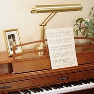 Transitional Piano Lamps