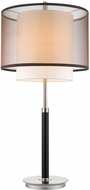 Trend BT7132 Roosevelt Contemporary Espresso and Brushed Nickel Table Top Lamp