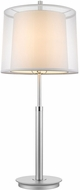 Trend BT7143 Nimbus Modern Metallic Silver and Polished Chrome Side Table Lamp