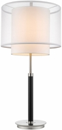 Trend BT7162 Roosevelt Contemporary Espresso and Brushed Nickel Table Lamp