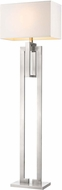 Trend TF7305 Precision Modern Brushed Nickel Floor Lamp
