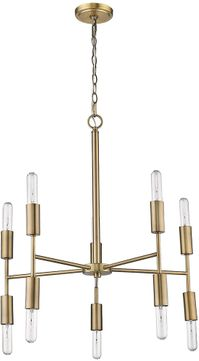 Trend TP10015AB Perret Contemporary Aged Brass Lighting Chandelier