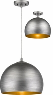 Trend TP7267-66 Latitude Hand Painted Weathered Pewter with Gold Interior 14  Drop Lighting / Flush Mount Lighting Fixture