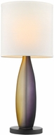 Trend TT6860 Elixer Contemporary Ebony Lacquer Side Table Lamp