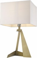 Trend TT80010AB Stratos Contemporary Aged Brass Table Lamp