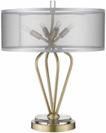 Trend TT80015AB Perret Contemporary Aged Brass Table Light