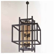 Troy B2493FI Crosby 6-light Wrought Iron Foyer Light