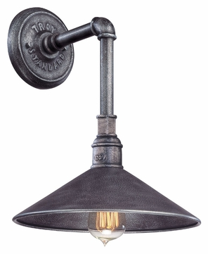 Troy B2771 Toledo Old Siver 14 Inch Tall Nautical Wall Lighting Sconce - Small
