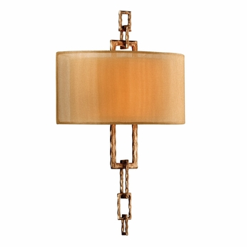 Troy B2872 Link Contemporary Wall Sconce in Bronze Leaf