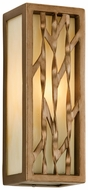 Troy B3161 Serengeti Painted Bronze Leaf Finish Small Modern Outdoor Sconce