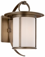 Troy B3242 Wright 13 Inch Tall Transitional Medium Brass Exterior Sconce