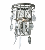 Troy B3801 Bistro Contemporary Graphite Finish 8 Wide Wall Sconce